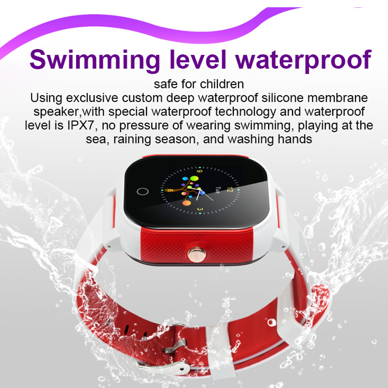 Image 2 - FA23 Smart Children Watch IP67 Waterproof Baby SIM Card Touch Screen GPS WIFI SOS Tracker Kids Alarm Clock Anti Lost Smartwatch-in Smart Watches from Consumer Electronics