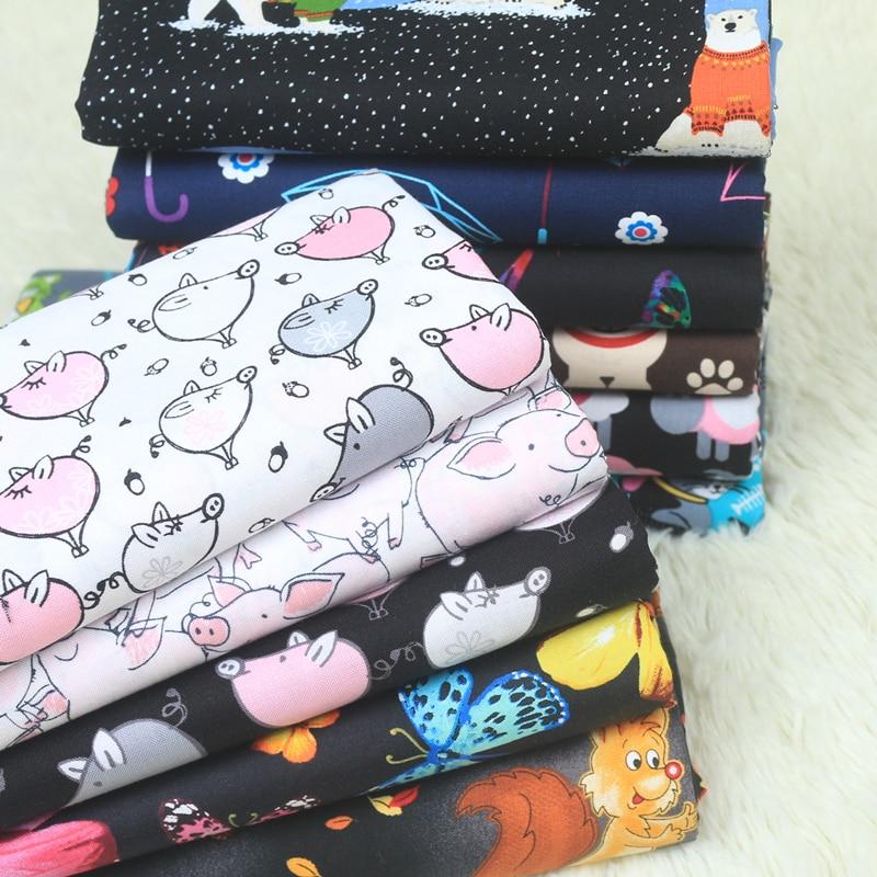half meter cartoon plain fabric cotton, handmade DIY quilting garment doll cloth dress telas tissu 100% cotton CR-A168