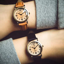 2017 New Fashion Brand Women Watch Male and female couples Casual Belt Watches Men's Classic Student Wristwatch Relogio Feminino
