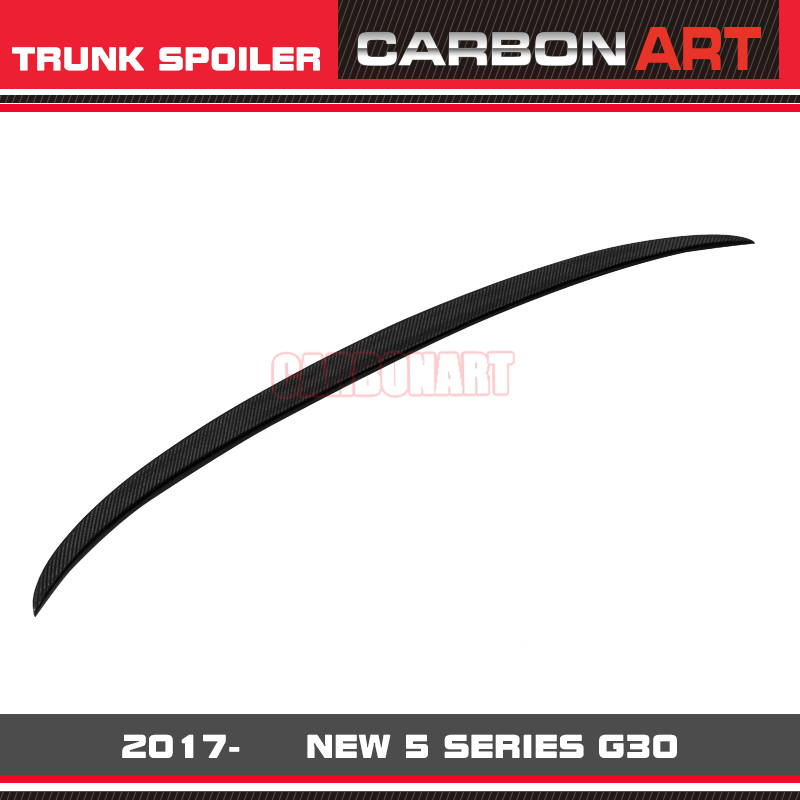 G30 Spoiler M5 Style Carbon Fiber Trunk Wing Bootlid Lip For BMW New Series 520 530 540 525i M550i 2017- unpainted rear roof lip spoiler wing for bmw e87 e81 2004 2011