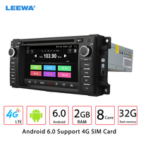 LEEWA 6.2 Android 6.0 (64bit) 2G/32G/4G LTE Octa Core Car DVD GPS Radio For Chrysler 300C Cirrus(2007~2010)/Sebring 2007~2012