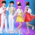 Crianças de roupas vestido de princesa para menino e menina estudantes coro coro de roupas para crianças