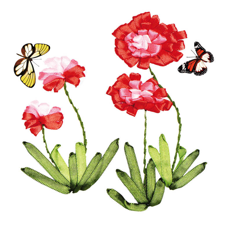 Diy الشريط التطريز التطريز عبر الابره عدة للمبتدئين لافندر الزهور يطبع الخياطة الحرفية هدية عيد تلبية مجموعة