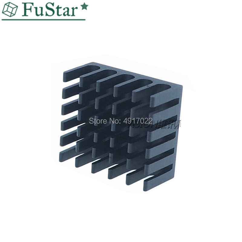 10pcs Heatsink Cooling Fin Aluminum Radiator Cooler Heat Sink For IC Chip LED 22*22*10mm Black 22X22X10mm LED Radiator 22*22*10
