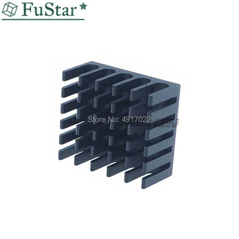 10pcs Heatsink Cooling Fin Aluminum Radiator Cooler Heat Sink For IC Chip LED 22*22*10mm Black 22X22X10mm LED Radiator 22*22*10