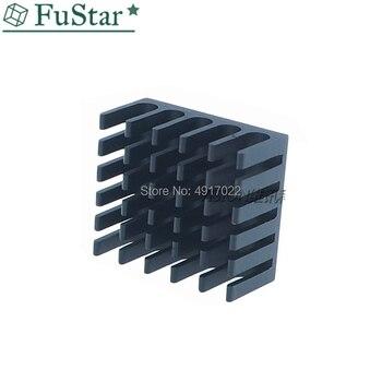цена на 10pcs Heatsink Cooling Fin Aluminum Radiator Cooler Heat Sink for IC Chip LED 22*22*10mm Black 22X22X10mm LED Radiator 22*22*10