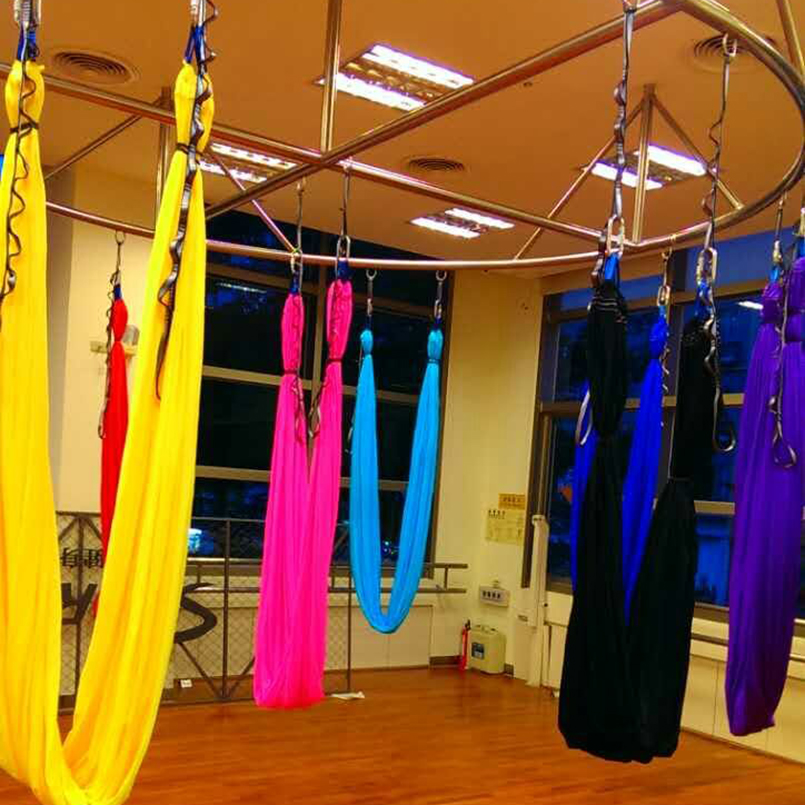 207 Lasted Elastic Aerial Flying Anti-gravity Yoga Hammock Swing + daisy Chain Yoga body building sliming fitness equipment relefree 14 colors aerial flying anti gravity yoga hammock swing yoga body building workout fitness inversion tool freedrop