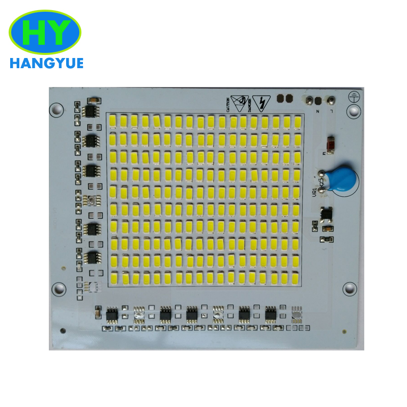 AC 220V 100W 120W 150W 200W Driverless 5730SMD module chips integrated Driver led PCB circuit board For led high bay light lamp 1pcs 50w 100w 150w smd 5730 led pcb aluminum plate module bulb panel with ac 220v driver for led high bay ligh led grow light