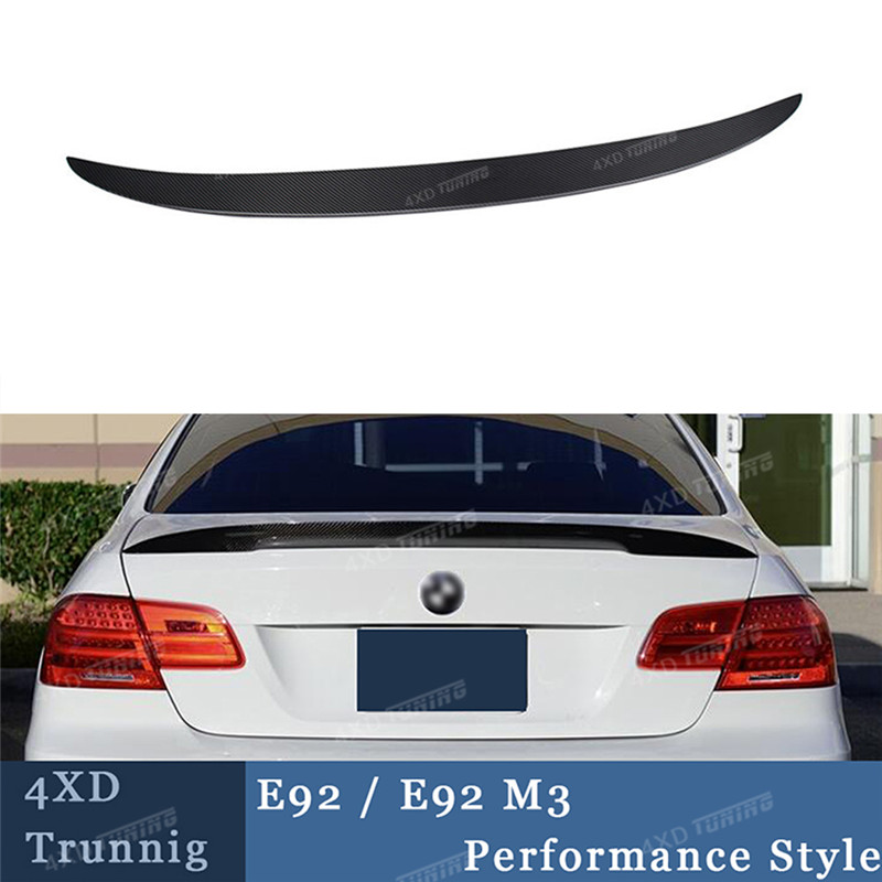 P Style For BMW E92 Spoiler 3 Series E92 & E92 M3 Carbon Fiber Rear Spoiler 2005 2006 2007 2008 2009 2010 2011 2012 yandex w205 amg style carbon fiber rear spoiler for benz w205 c200 c250 c300 c350 4door 2015 2016 2017