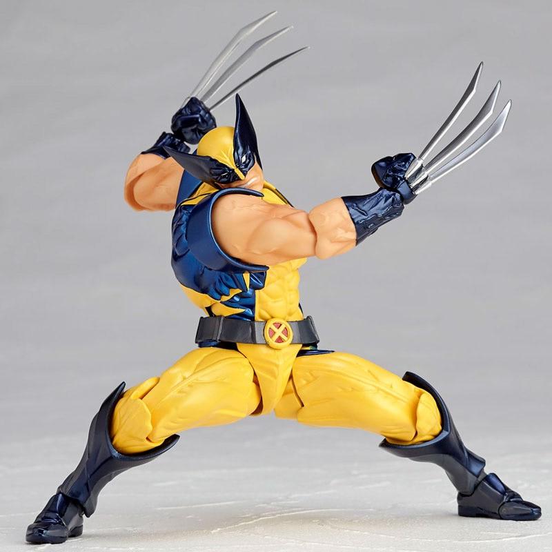 Revoltech Amazing Red Venom Carnage Amazing Captain America Spiderman Magneto Wolverine X-men Action Figures Toy Doll (28)