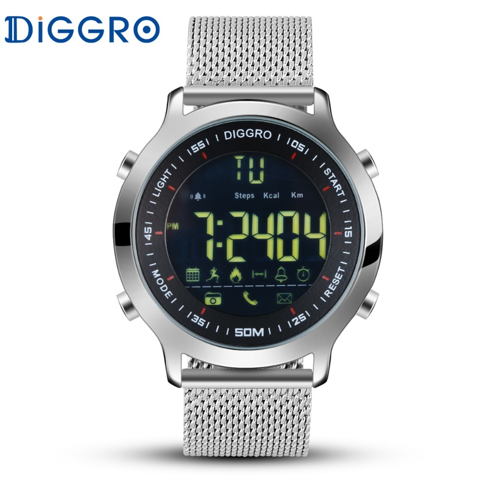 Diggro DI04 Smart Watch 5ATM Professional Waterproof Swimming Sport Wristwatch Bluetooth 4.0 Pedometer For Android iOS PK EX18 spülbecken sieb
