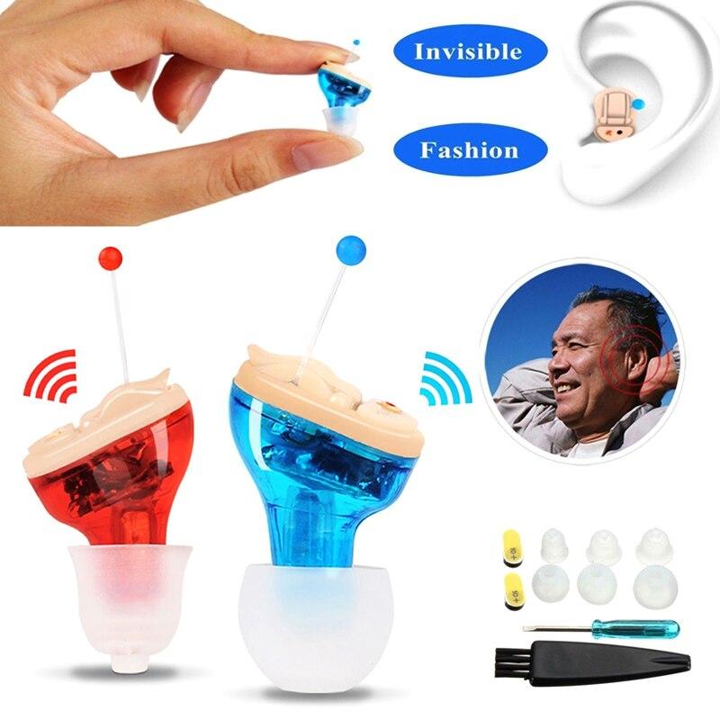 2019 vente chaude Mini aide auditive Invisible dans l'oreille amplificateur de voix amplificateur
