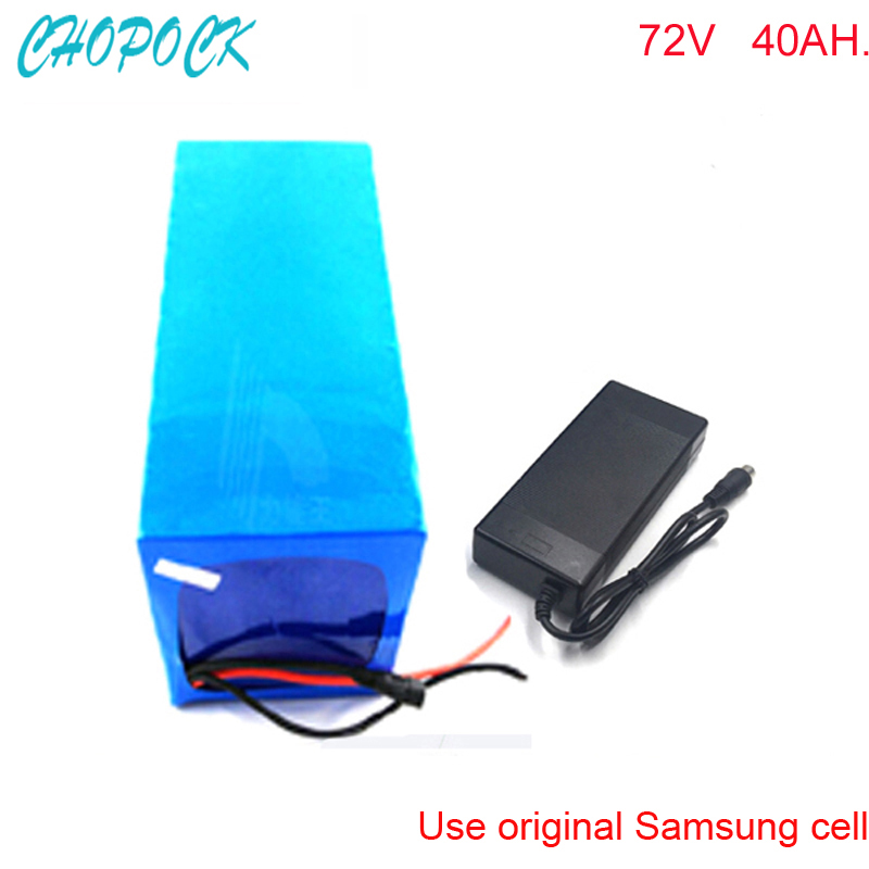 Diy rechargeable72v 3000w elektrofahrrad akkus lithium battery 72v 40ah electric motocycle battery pack For Samsung cell 72v 3000w lithium ion battery pack for scooter e motorcycle electric bike