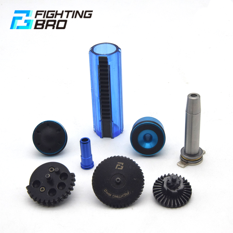 Image 2 - AK Ver.3 AEG Airsoft accessories Super Silent Gear Piston head Spring guide Nozzle Cylinder 13:1 16:1 18:1 200:100 300:100 CNC-in Paintball Accessories from Sports & Entertainment