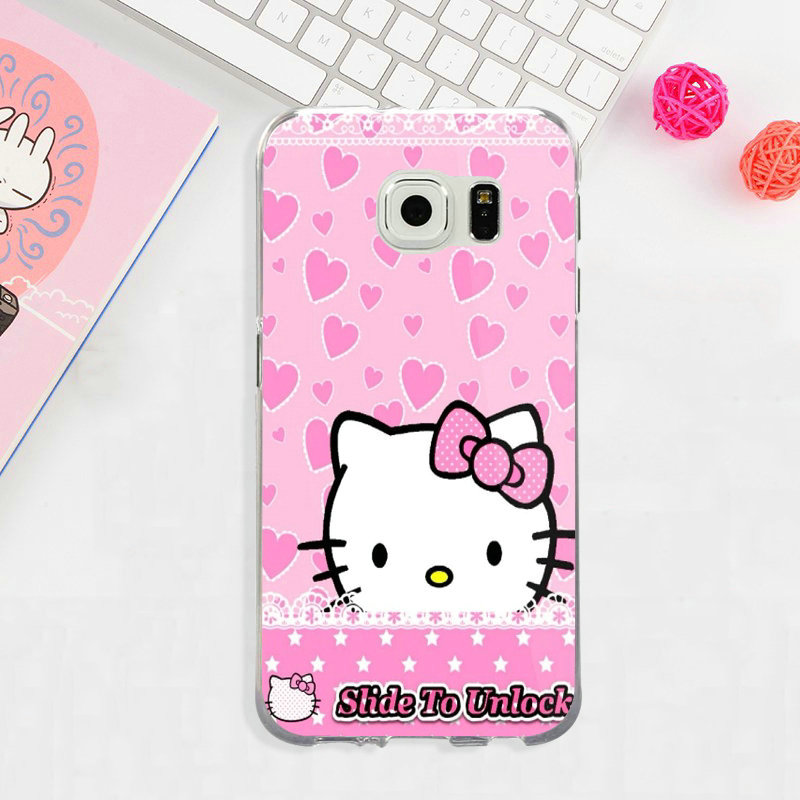 Cute Cartoon Hello Kitty Silicon Mobile Phone Cases For