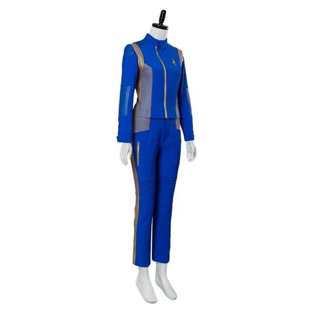 Star Trek Discovery Cosplay Michael Burnham Cosplay Costume Womens Crewman Sets Uniform 2
