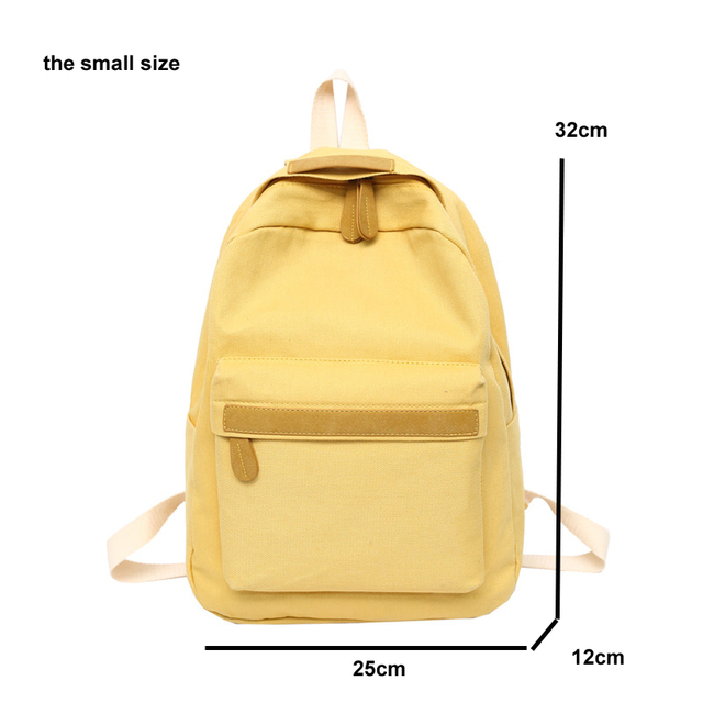 2019 Women Canvas Backpacks Ladies Shoulder School Bag Backpack Rucksack for Girls Travel Fashion Bag Bolsas Mochilas Sac A Dos 5