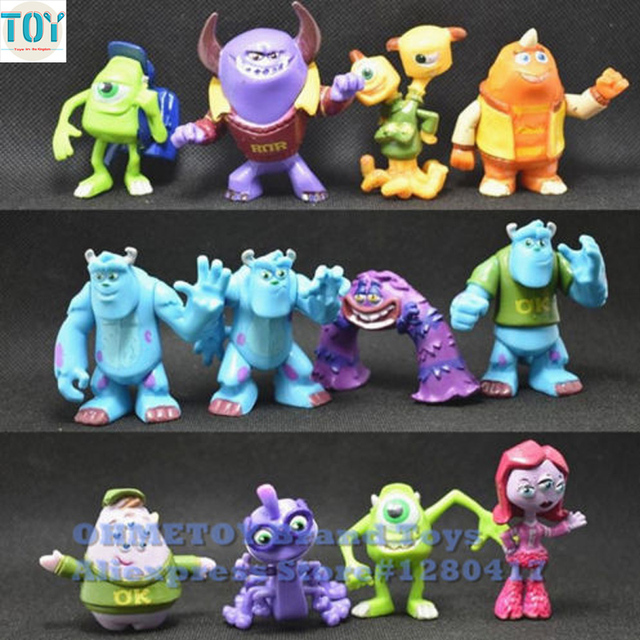 new 12pcs monsters inc monsters university mike sully randall mini