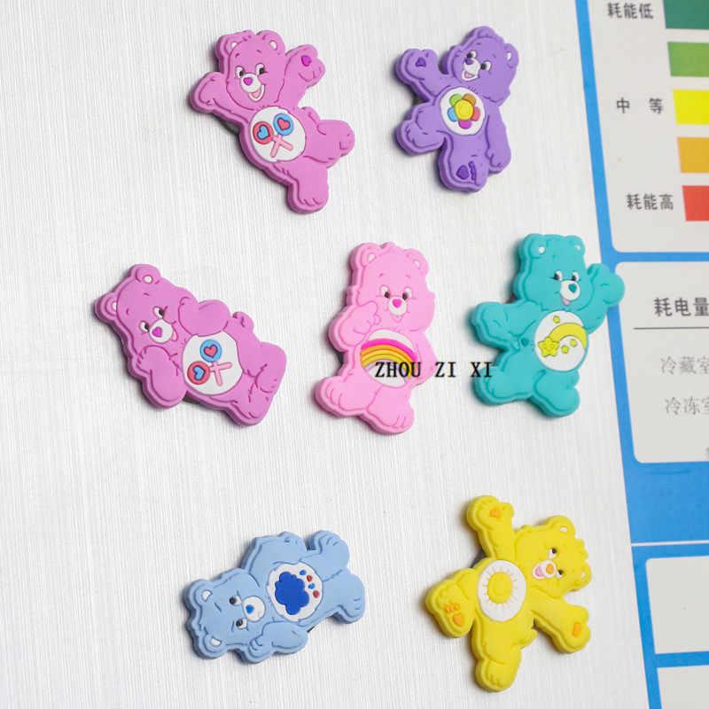 """Care Bears Аниме фигурки магниты на холодильник отличное качество ПВХ с рисунком радуги и медведя сердечка игрушки """"медведи"""" для детей"""