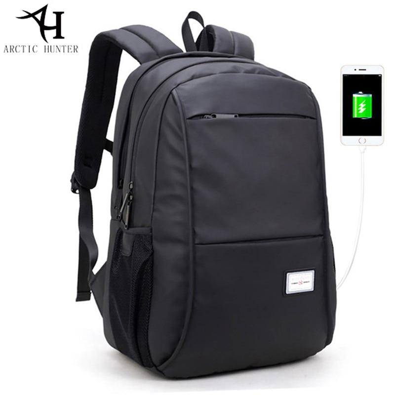ARCTIC HUNTER waterproof USB bagpack 15.6inch laptop backpack for women Men Large capacity Business Casual travel black bags