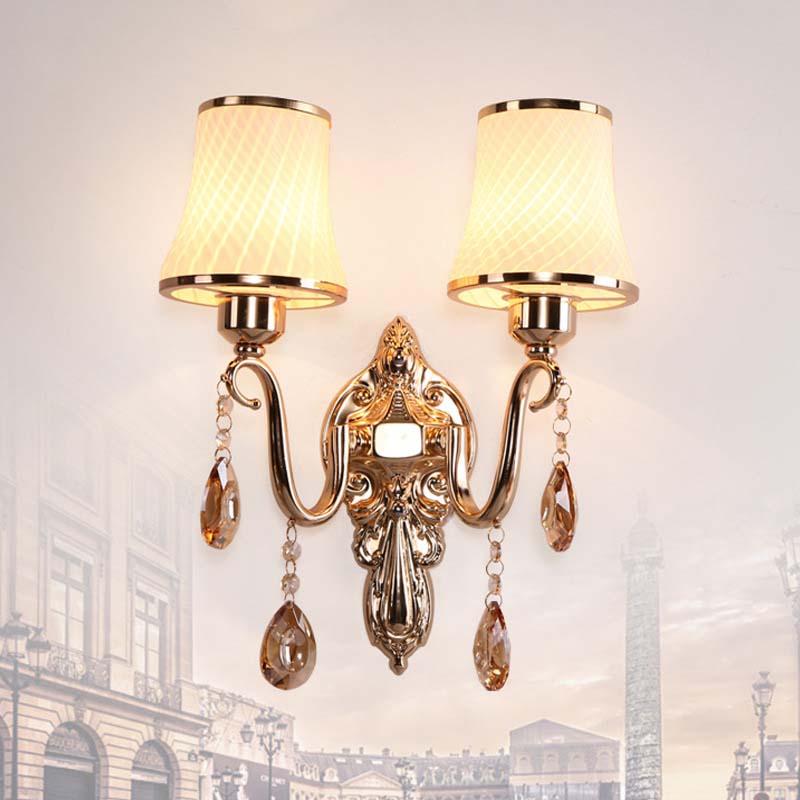 BOKT Modern Wall Sconce Nordic Crystal  light Simple And Creative Warm Bedroom Bedside Lamp Lights