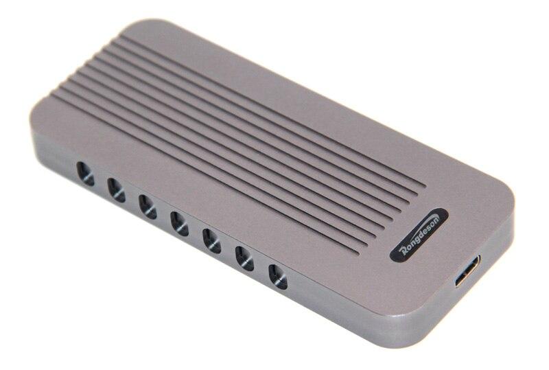NVMe PCIE USB3.1 boîtier HDD en aluminium M.2 à USB disque dur SSD type de boîtier C 3.1 M connecteur de clé boîtier HDD pour ordinateur PC