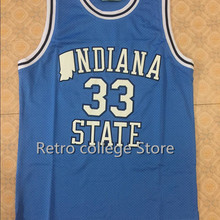 994a6247c3d Indiana State Sycamores LARRY BIRD #33 Throwback Basketball Jersey  Embroidery Stitched XXS-XXL(