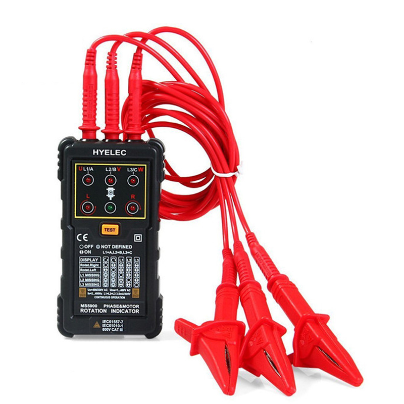 Rotation Current Indicator Rotation  Amp Sequence Tester Motor Voltage Phase  Peakmeter MS5900 Three Indicator Frequency Phase