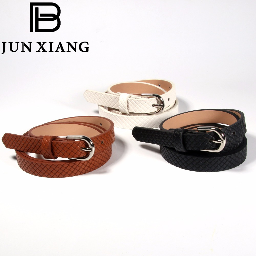 Fashion Adult PU Leather 5 Hole womens Waist Belt Black White Brown Color as picture Suit Pants Jeans