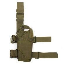 Multi-Función de la Caza Al Aire Libre Táctico Polaina Pierna Del Muslo para Pistola Pistolera Bolsa envolvente bolsa de Arma de La Caza Accesorios 3 Colores