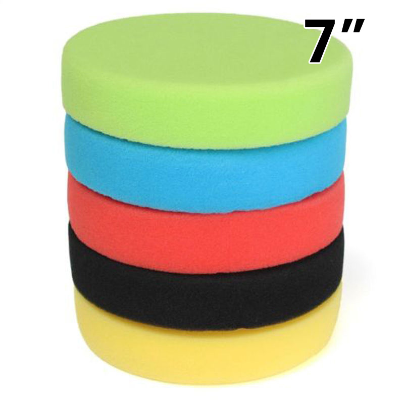 5pcs/Set Sponge Polishing Pads 18*3.2cm 5colors Car Round Flat Polishing Buffing Sponge Pads High Quality Accessories For Cars-in Polishing & Grinding Materials Set from Automobiles & Motorcycles