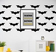 Superhero Decals Bat Pattern Kid Nursery Room DIY Decor Super Hero Home Decorative Vinyl Art Decal Modern Wall Sticker YO-72