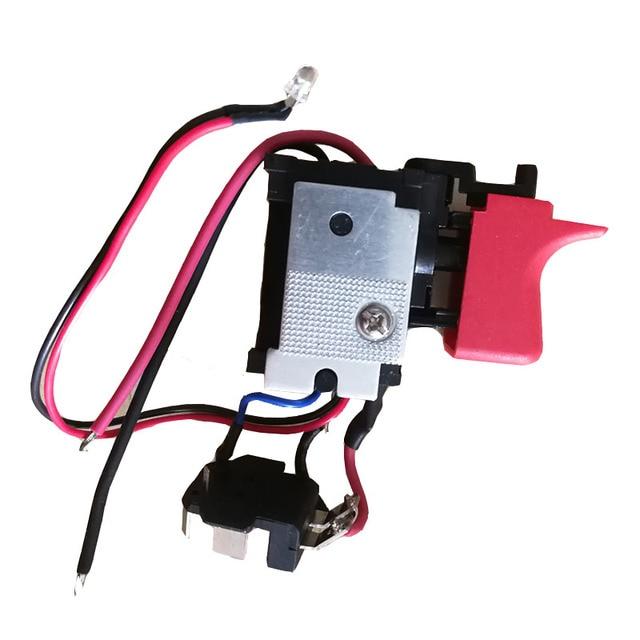 DL2A/2 GSB120 LI anahtarı aracı parçaları 2609125169 elektronik hız ayar anahtarı için bosch 3601JF3081 elektrikli matkap tornavida