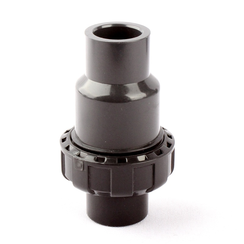 "NuoNuoWell ANSI 1/2""(21.3mm) Non Return Valve Standard Backflow Socket Connectors Garden Irrigation Water Pipe Joint Plastic