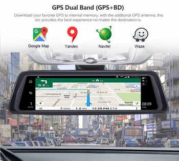"Anstar 10\"" 4G Rearview Mirror Car DVR 2+32GB 4CH Cameras Android 5.1 Video Recorder ADAS GPS Auto Registrar Dash Cam"