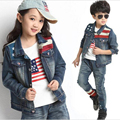 Spring Autumn Children Clothing Sets Boys Girls Denim Coat+T-shirt+Jeans 3pcs Set Girls Clothes Suit 5-12 Age