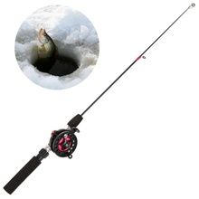 Super Short FRP Fiber Outdoor Portable Winter Ice Fishing Rods Reels To Choose Rod Combo With Reel Wheel