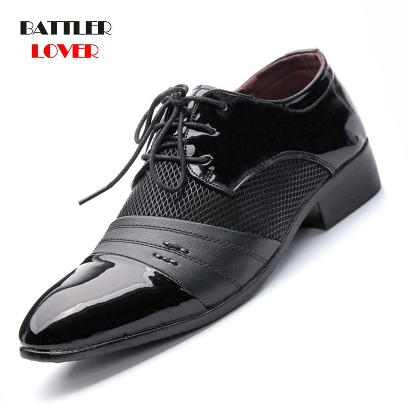 Men Dress Shoes Plus Size 38-48 Men Business Flat Shoes Black Brown Breathable Low Top Mens Formal Office Working Shoes Hombre