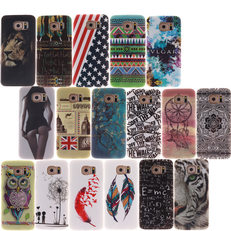 Lion Tiger Cartoon Printing Soft Silicone TPU Case Cover For SAMSUNG GALAXY S3 S4 S5 S6 S7 Edge Plus Mini Note 3 4 5 Phone Cases