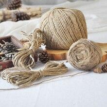 50 м/100 м 1 рулон многофункциональные тростниковые струны подарочные упаковочные шнуры декоративные бусы веревки из натурального джута для самостоятельного изготовления аксессуаров