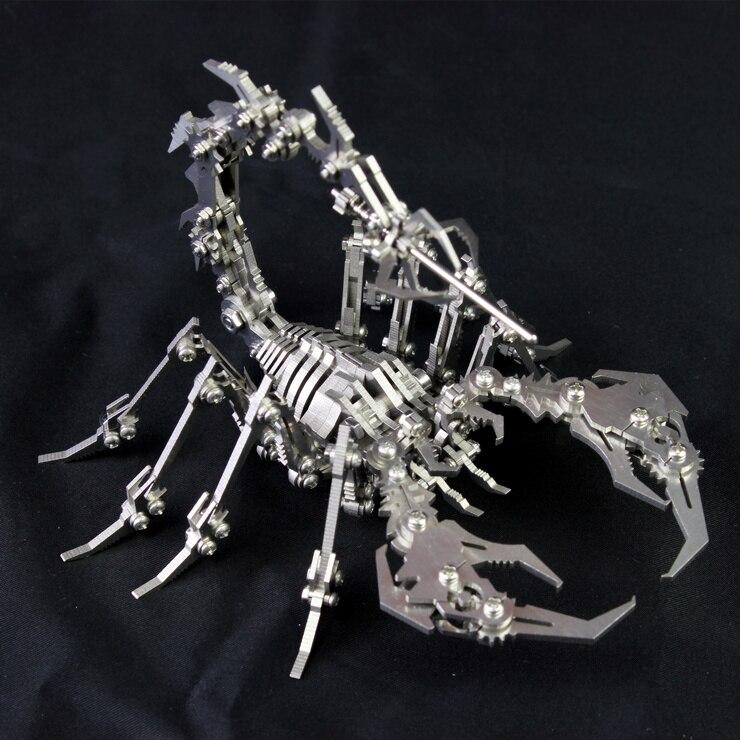 3D Métal Modèle Amovible Robot Insectes Scorpion Fini produit Aucun Assemblage Intelligence Jouets D'anniversaire Cadeau Décoration Artisanat