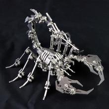 3D Logam Model Dilepas Robot Serangga Scorpion produk Jadi Tidak Ada Perakitan Intelijen Mainan Hadiah Koleksi Dengan Kotak Display