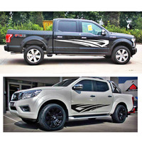 car decal run by fire car door side graphic vinyl for dmax adventure mud ranger F150 NAVARA