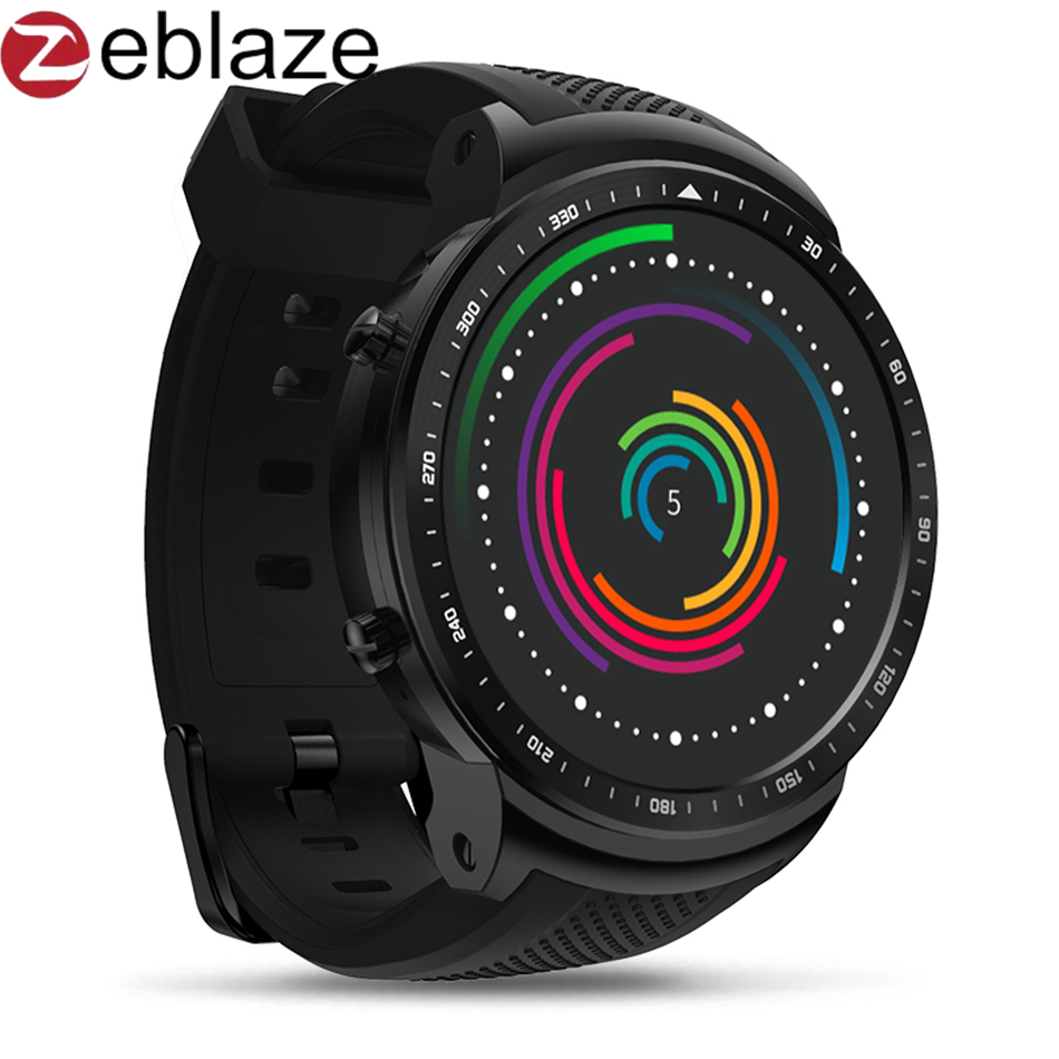 Zeblaze Thor PRO 3G GPS Smartwatch Android Smart Phone Watch Men Fashion Sports Bracelet Camera SIM Dial Heart Rate Monitor zeblaze zeband plus smart bracelet blue