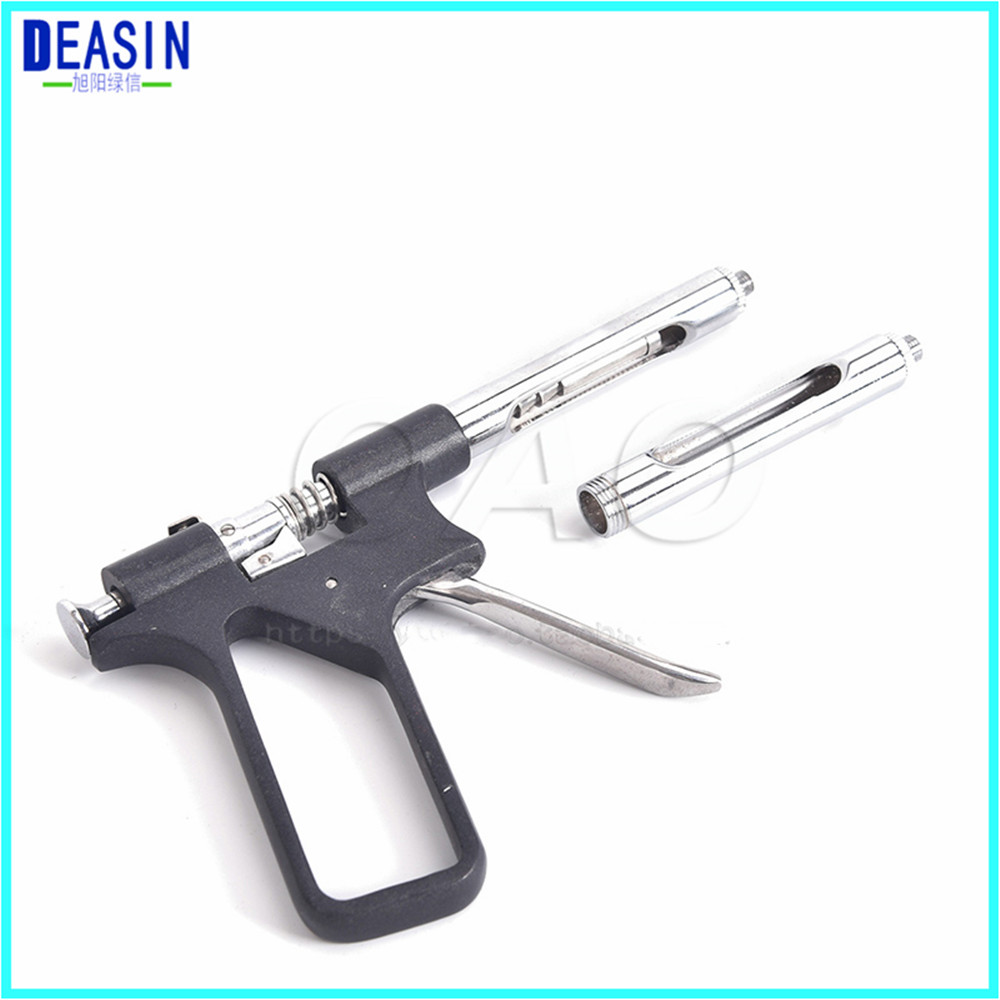 Gun syringe Dental instruments Stainless steel instruments Oral instruments Black and silver options
