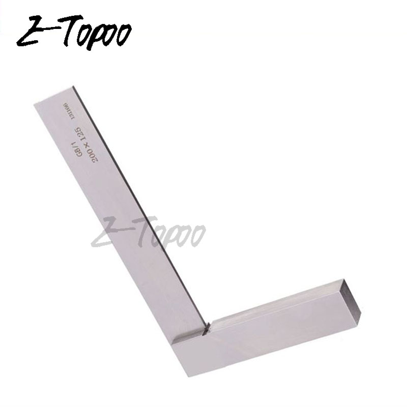 Square Ruler Grade 1 Carbon Steel Bladed Square Try Gauge Angle 90 Degree Angle Ruler Measure Tools
