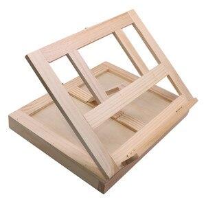 Image 3 - Moldura de madeira para pintura de gavetas, moldura dobrável para pintura a óleo, aquarela, caixa de madeira, materiais de arte portátil, 1 peça