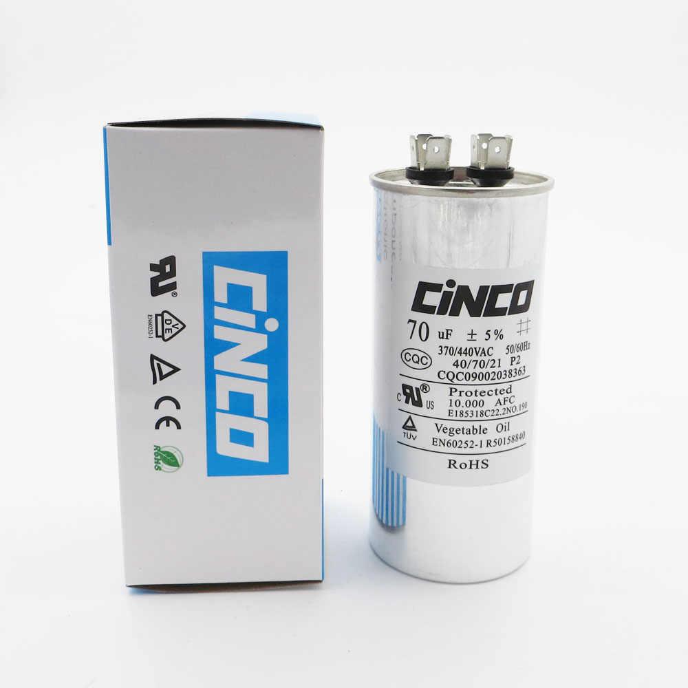 70 uf 370/440 vac run capacitor air conditioner compressor motor start  capacitor cbb65 aluminum