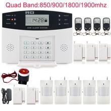 Wireless 433MHz Home Burglar Security SIM SMS GSM Alarm System PIR Detector Door Sensor with wired siren security home