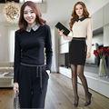 2013 nueva moda Formal traje de pantalones para mujeres Office lady carrera ropa de trabajo camisa y pantalones del traje de manga larga envío gratis